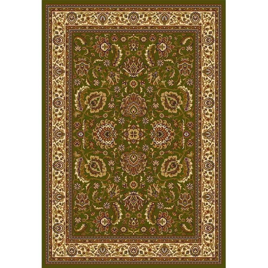 Home Dynamix Brussels Green and Ivory Rectangular Indoor Woven Area Rug (Common: 5 x 7; Actual: 86-in W x 62-in L)