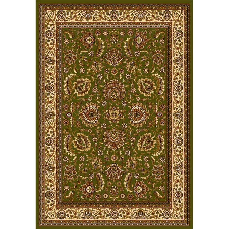 Home Dynamix Brussels Green and Ivory Rectangular Indoor Woven Area Rug (Common: 8 x 10; Actual: 92-in W x 124-in L)