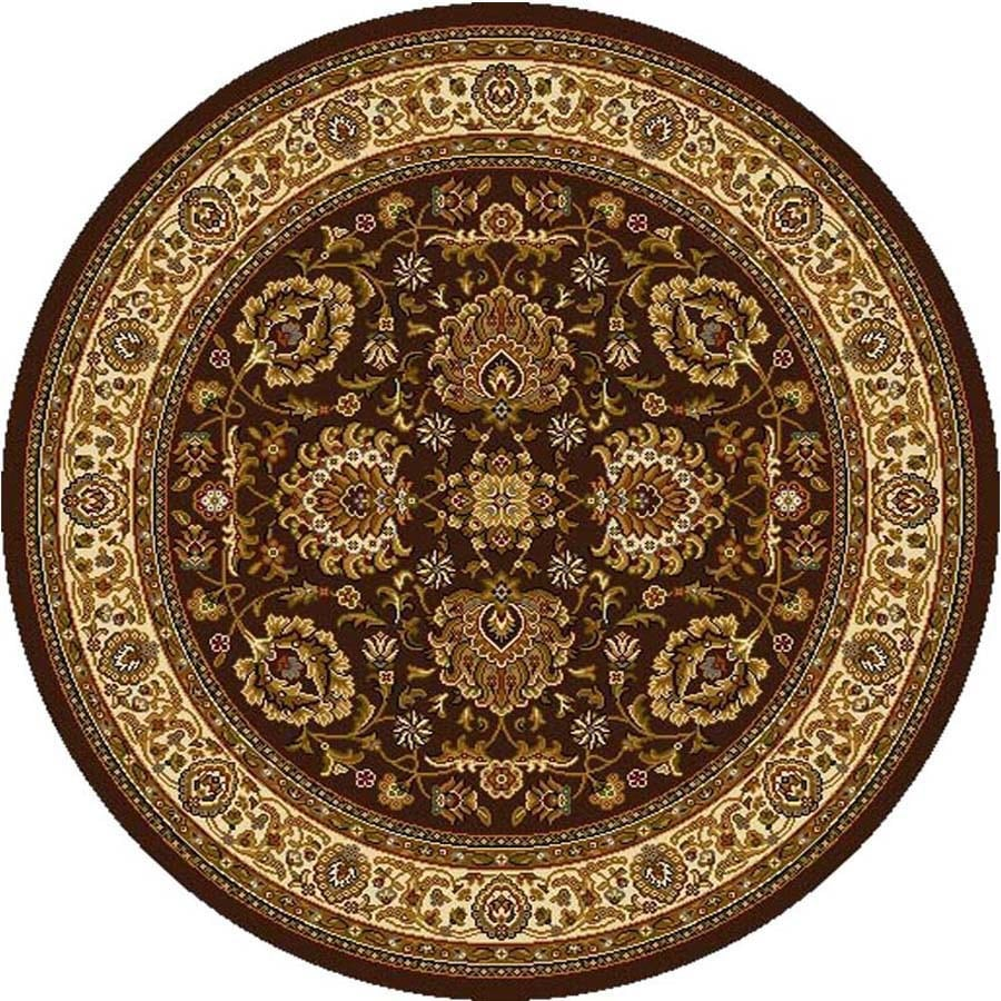 Home Dynamix Brussels Brown-Ivory Round Indoor Woven Area Rug (Common: 5 x 5; Actual: 5.17-ft W x 5.17-ft L)