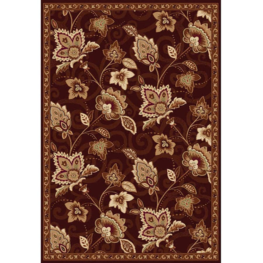 Home Dynamix Lisbon Brown Rectangular Indoor Woven Area Rug (Common: 5 x 7; Actual: 5.17-ft W x 7.17-ft L)