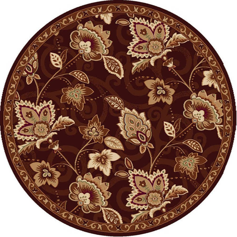 Home Dynamix Lisbon Brown Round Indoor Woven Area Rug (Common: 5 x 5; Actual: 5.17-ft W x 5.17-ft L)