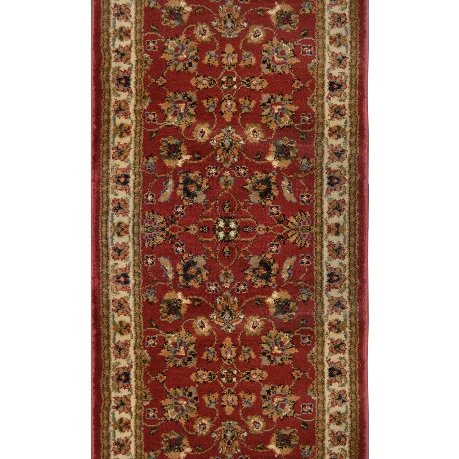 Home Dynamix Paris Red Rectangular Indoor Woven Runner (Common: 2 x 14; Actual: 2.25-ft W x 13-ft L)