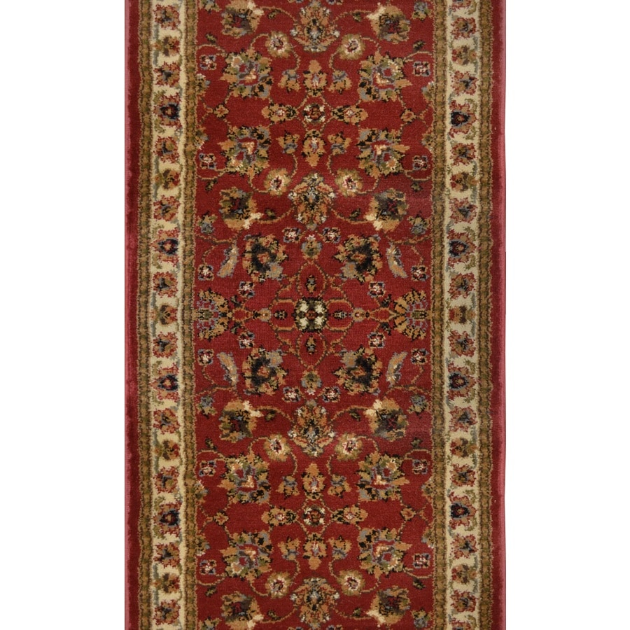 Home Dynamix Paris Red Rectangular Indoor Woven Runner (Common: 2 x 24; Actual: 2.25-ft W x 23-ft L)