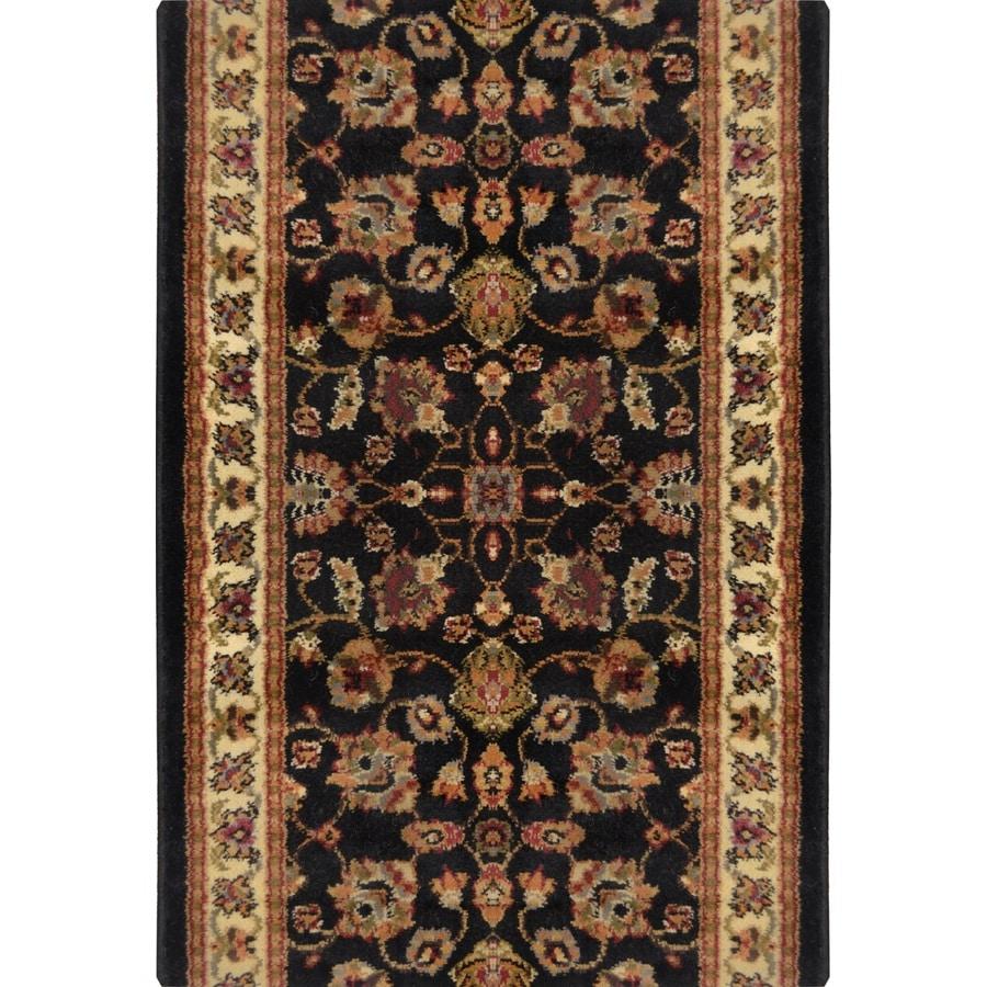 Home Dynamix Paris Black Rectangular Indoor Woven Runner (Common: 2 x 22; Actual: 27-in W x 252-in L)