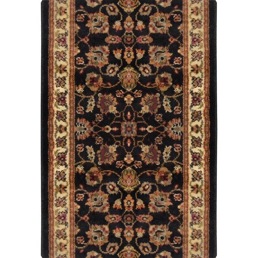 Home Dynamix Paris Black Rectangular Indoor Woven Runner (Common: 2 x 28; Actual: 2.25-ft W x 27-ft L)
