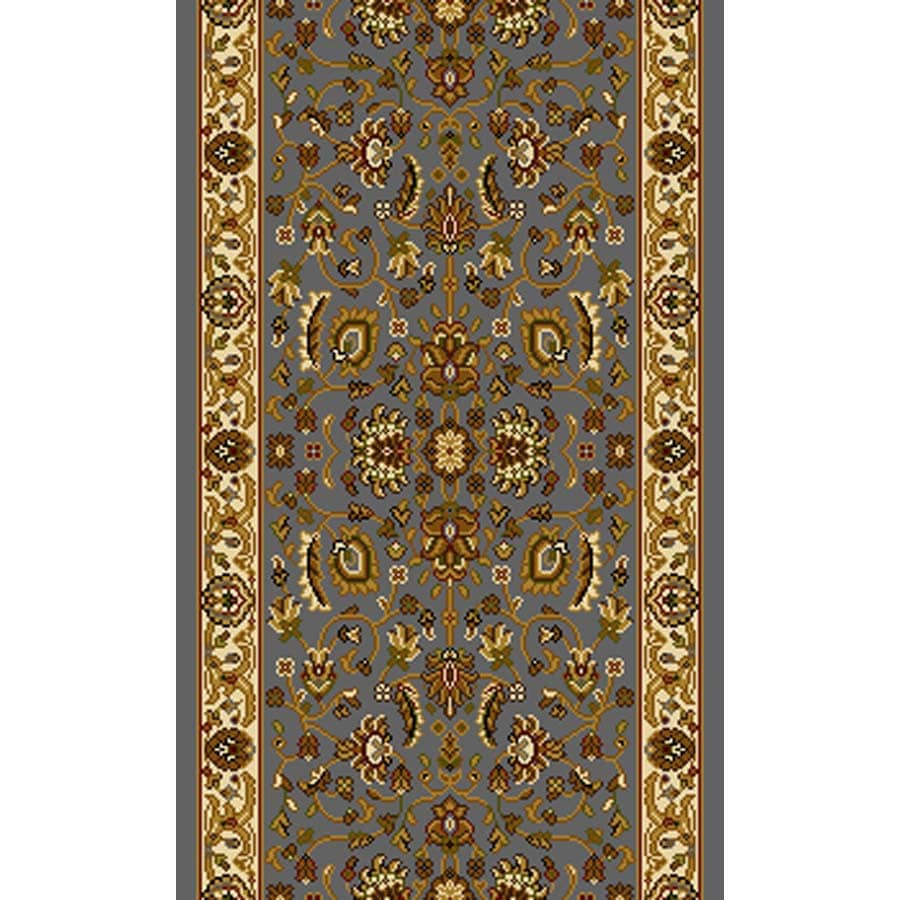 Home Dynamix Brussels Blue and Ivory Rectangular Indoor Woven Runner (Common: 2 x 22; Actual: 27-in W x 252-in L)