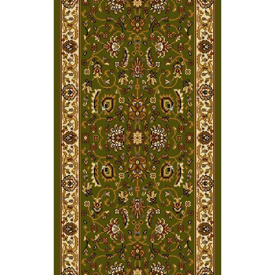 Home Dynamix Brussels Green and Ivory Rectangular Indoor Woven Runner (Common: 2 x 10; Actual: 27-in W x 108-in L)