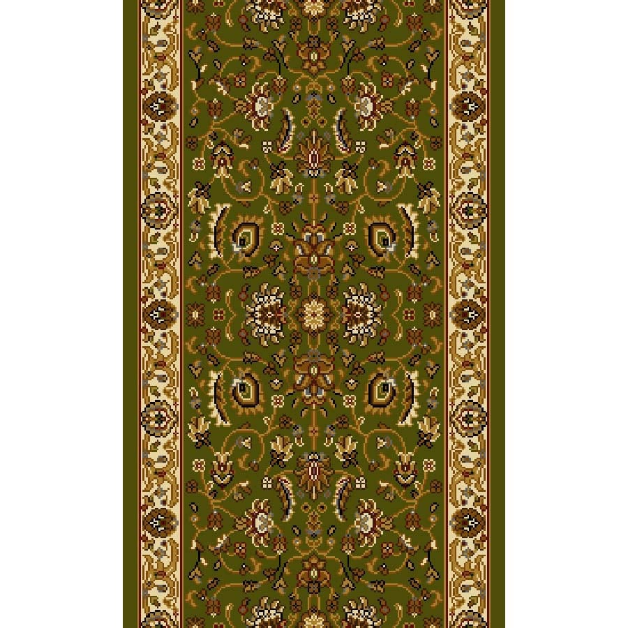 Home Dynamix Brussels Green and Ivory Rectangular Indoor Woven Runner (Common: 2 x 26; Actual: 27-in W x 312-in L)