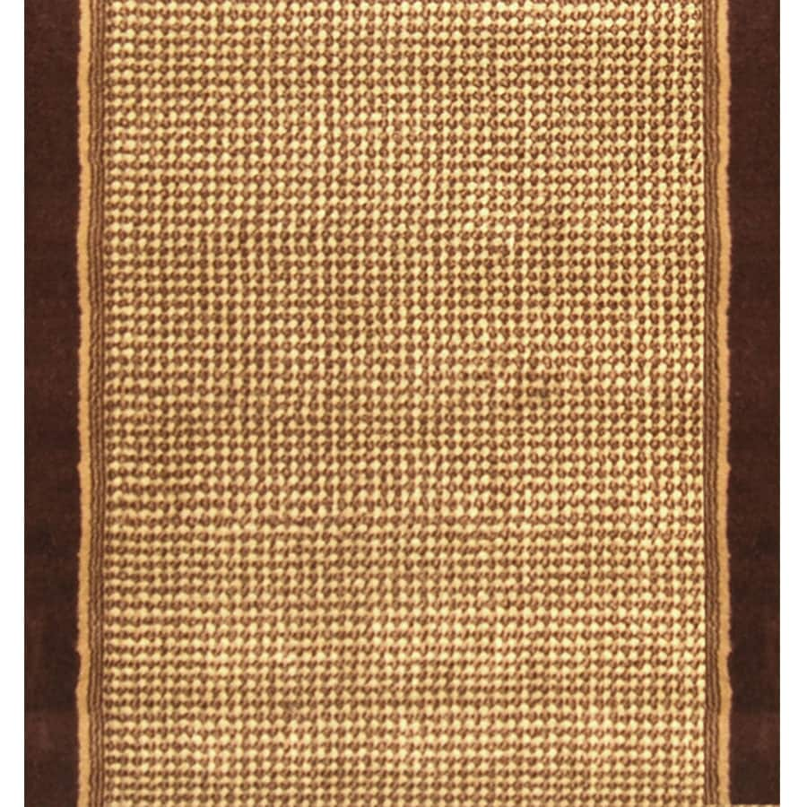 Home Dynamix Madrid Brown Rectangular Indoor Woven Runner (Common: 2 x 10; Actual: 27-in W x 120-in L)