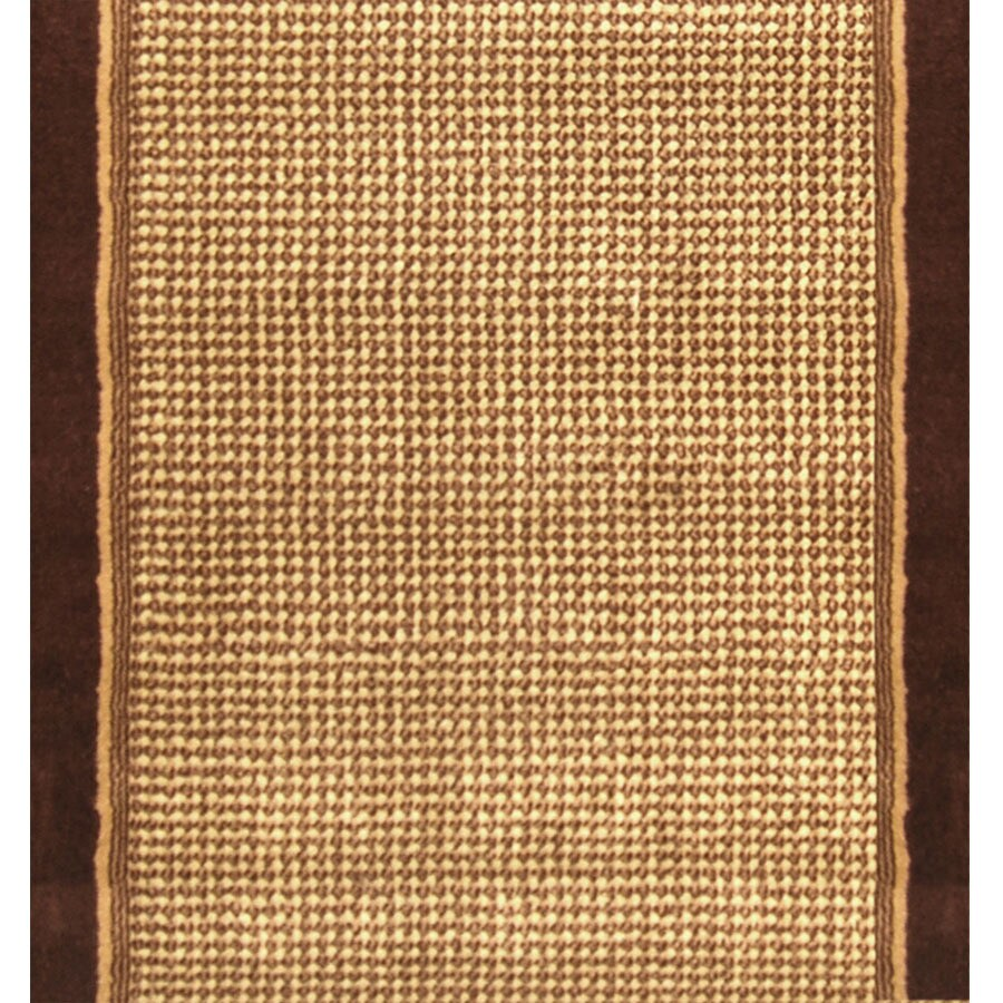 Home Dynamix Madrid Brown Rectangular Indoor Woven Runner (Common: 2 x 18; Actual: 2.25-ft W x 17-ft L)