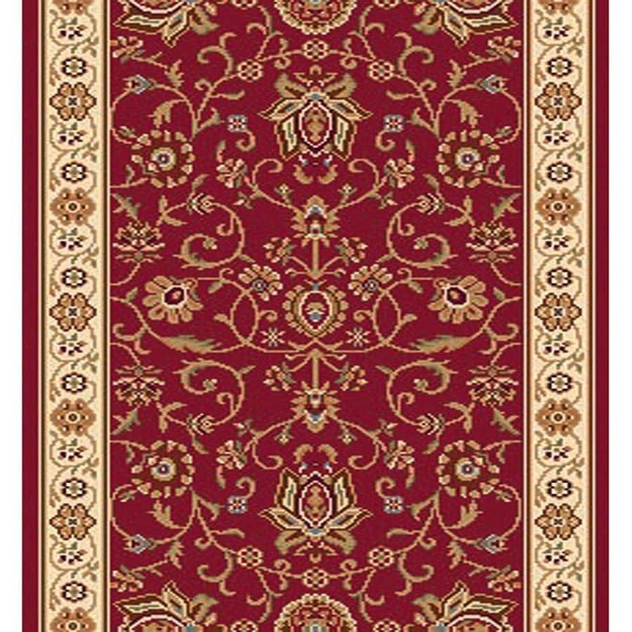 Home Dynamix Rome Red Rectangular Indoor Woven Runner (Common: 2 x 8; Actual: 27-in W x 84-in L)