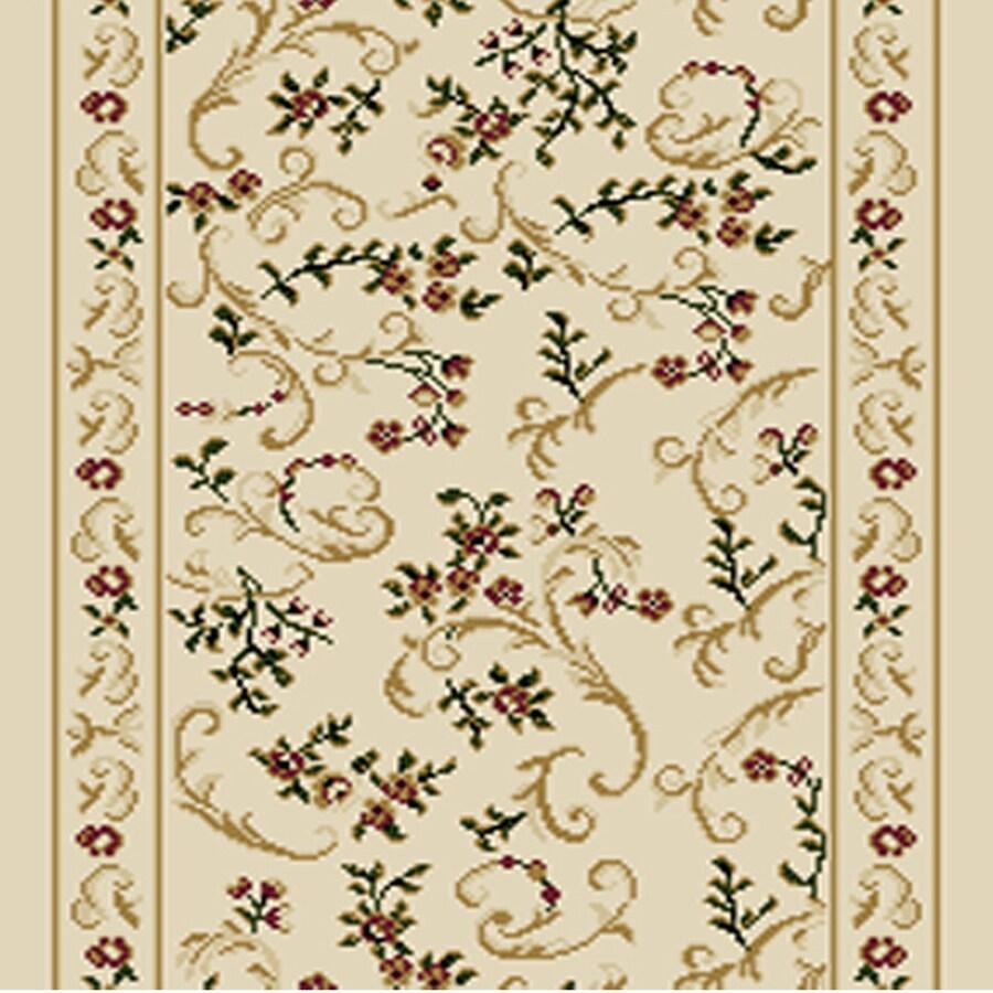 Home Dynamix Geneva Ivory Rectangular Indoor Woven Runner (Common: 2 x 12; Actual: 27-in W x 144-in L)