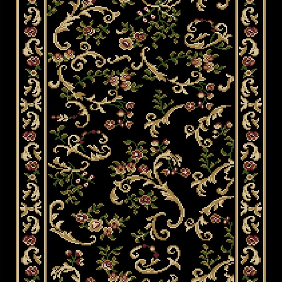 Home Dynamix Geneva Black Rectangular Indoor Woven Runner (Common: 2 x 24; Actual: 27-in W x 276-in L)