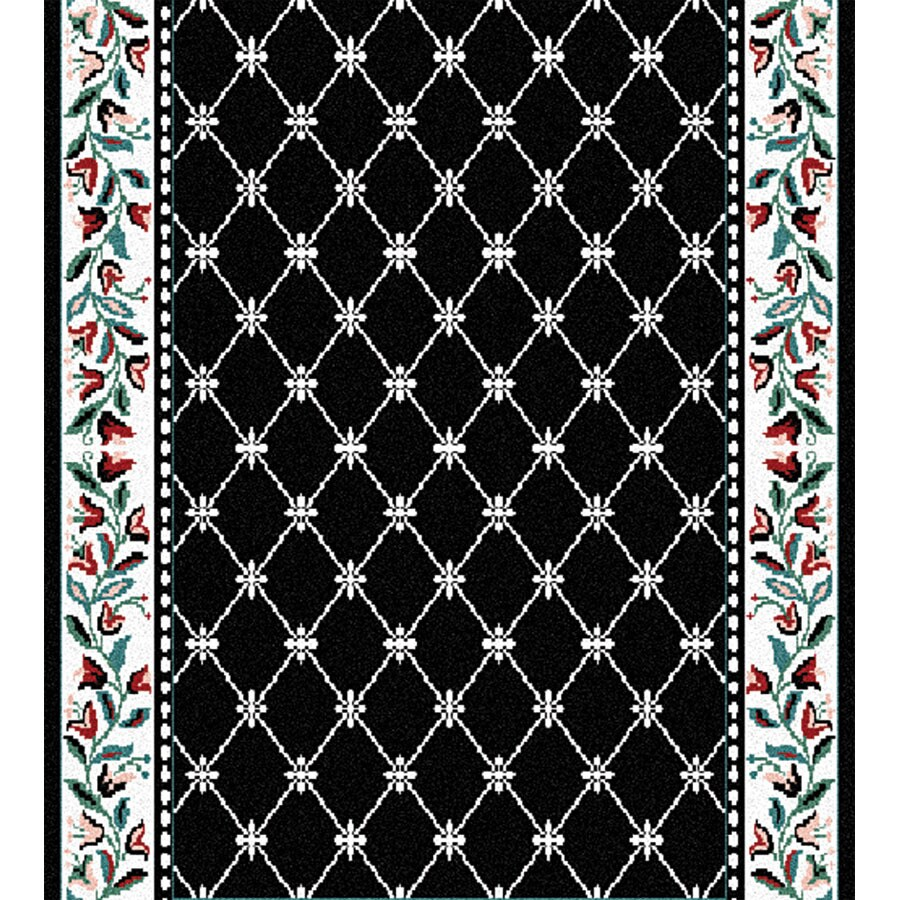 Home Dynamix London Black Rectangular Indoor Woven Runner (Common: 2 x 10; Actual: 2.25-ft W x 9-ft L)
