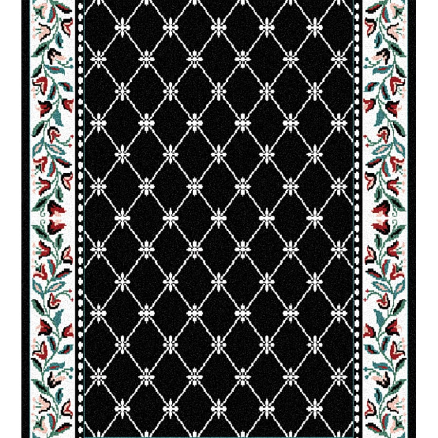 Home Dynamix London Black Rectangular Indoor Woven Runner (Common: 2 x 10; Actual: 2.25-ft W x 10-ft L)