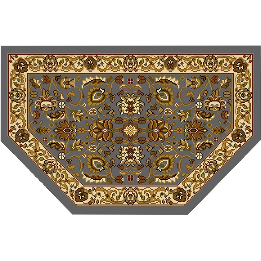 Home Dynamix Brussels Blue and Ivory Hexagonal Indoor Woven Throw Rug (Common: 2 x 3; Actual: 23.6-in W x 39.3-in L)