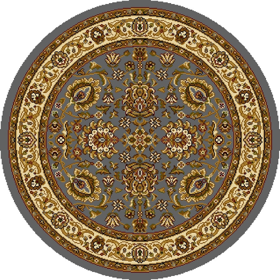 Home Dynamix Brussels Ivory Round Indoor Woven Throw Rug (Common: 4 x 4; Actual: 3.25-ft W x 3.25-ft L)