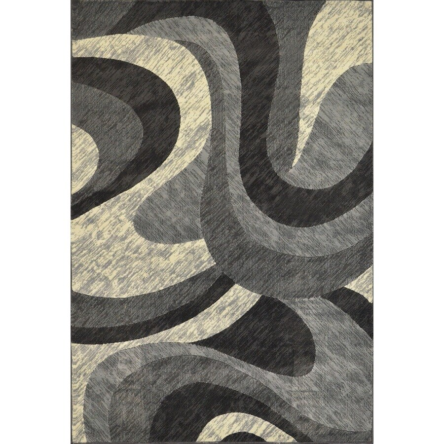 Home Dynamix Catalina Gray Rectangular Indoor Woven Area Rug (Common: 8 x 10; Actual: 94-in W x 125-in L)