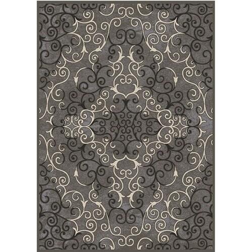 Gray Rectangular Indoor Woven Area Rug
