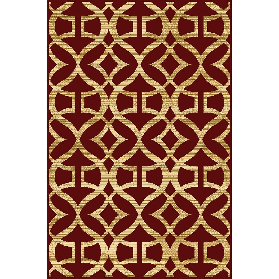 Home Dynamix Caracas Red Rectangular Indoor Woven Area Rug (Common: 5 x 7; Actual: 62-in W x 86-in L)