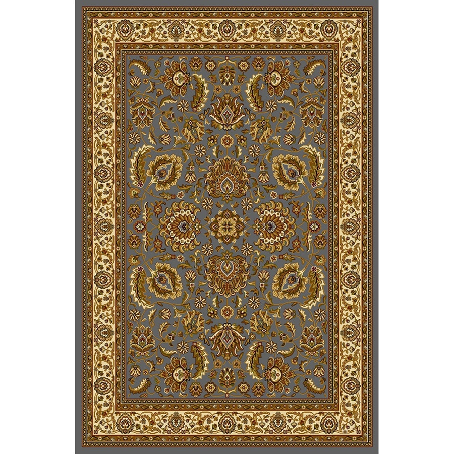 Home Dynamix Brussels Blue-Ivory Rectangular Indoor Woven Throw Rug (Common: 2 x 4; Actual: 2.62-ft W x 4.26-ft L)