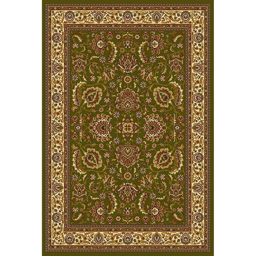 Home Dynamix Brussels Green-Ivory Rectangular Indoor Woven Throw Rug (Common: 2 x 4; Actual: 2.62-ft W x 4.26-ft L)
