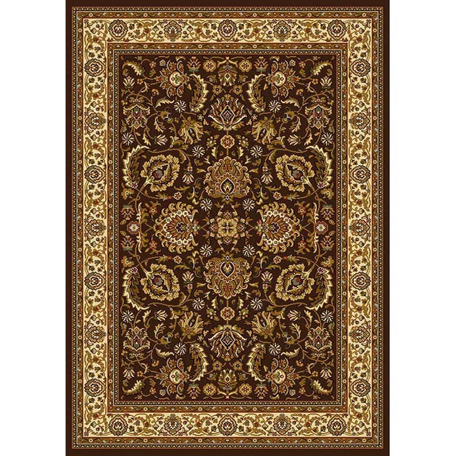 Home Dynamix Brussels Brown-Ivory Rectangular Indoor Woven Throw Rug (Common: 2 x 4; Actual: 2.62-ft W x 4.26-ft L)