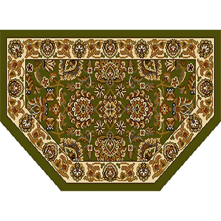 Home Dynamix Brussels Green-Ivory Hexagonal Indoor Woven Throw Rug (Common: 2 x 3; Actual: 1.97-ft W x 3.28-ft L)
