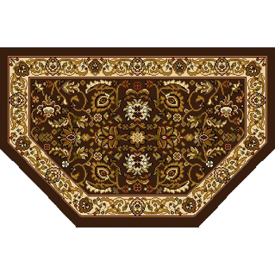 Home Dynamix Brussels Brown-Ivory Hexagonal Indoor Woven Throw Rug (Common: 2 x 3; Actual: 1.97-ft W x 3.28-ft L)