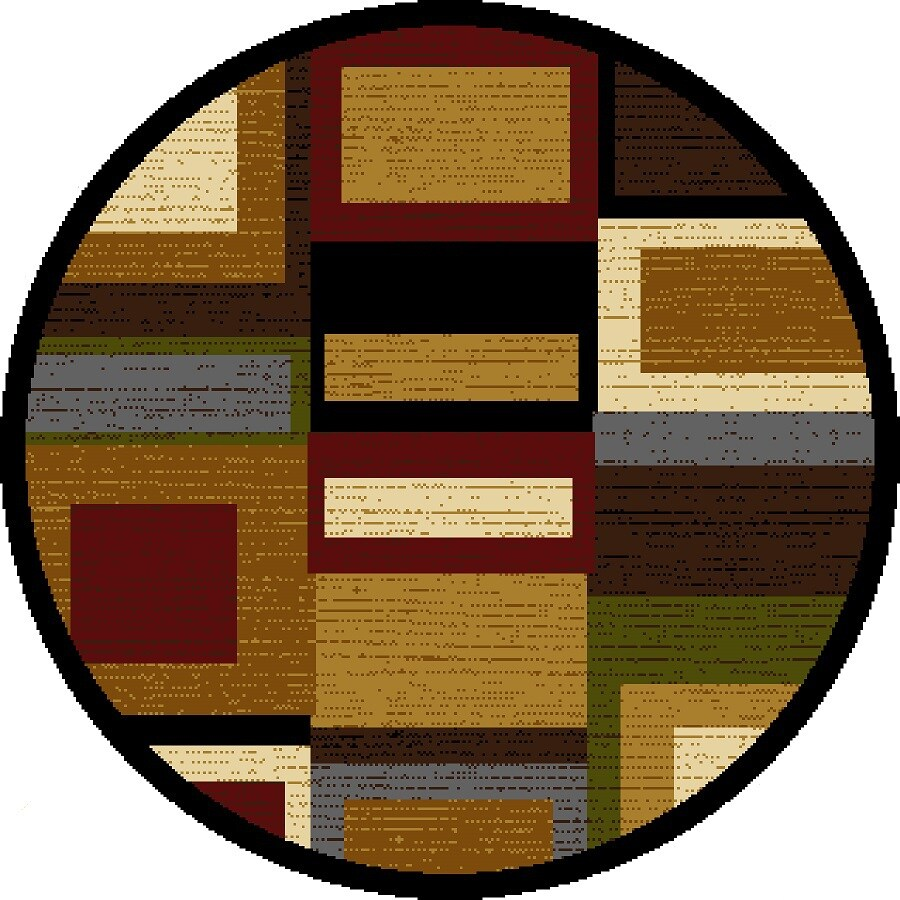 Home Dynamix Montreal Multi-Red Round Indoor Woven Area Rug (Common: 8 x 8; Actual: 7.83-ft W x 7.83-ft L)