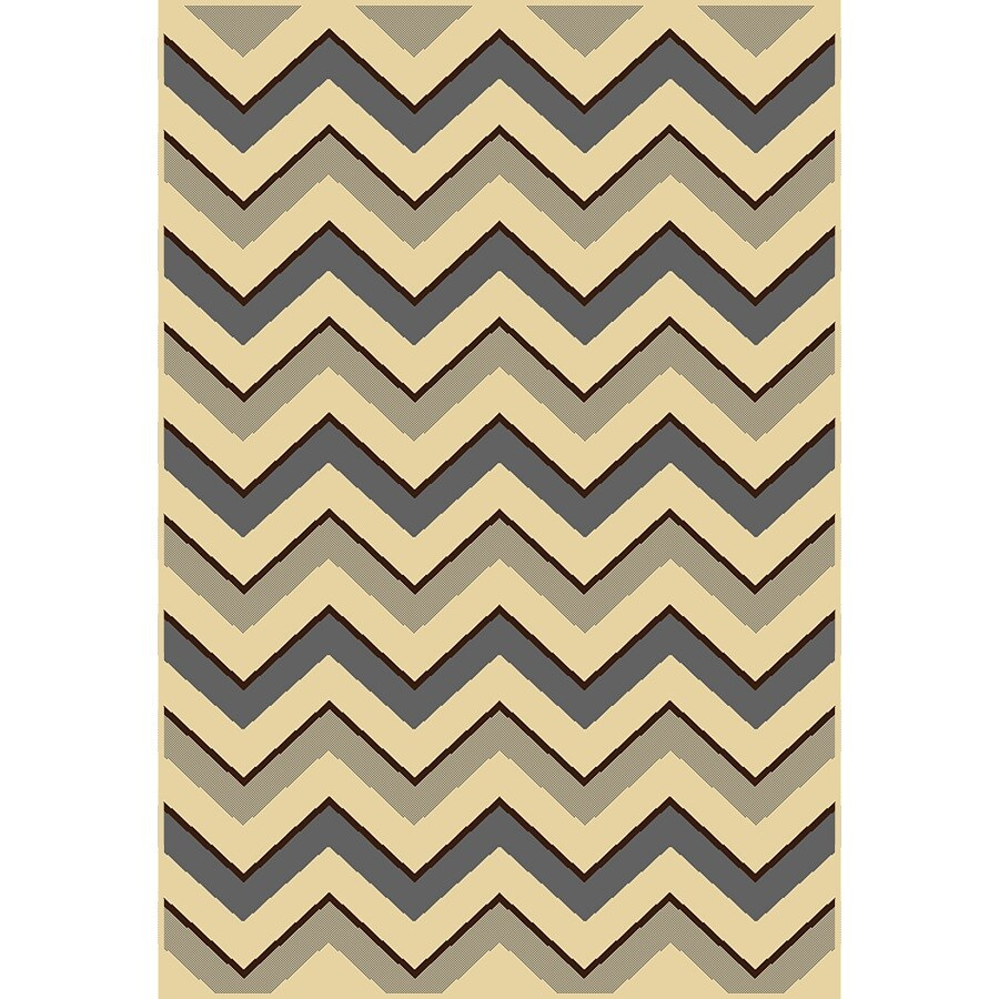 Home Dynamix Caracas Gray and Ivory Rectangular Indoor Woven Area Rug (Common: 8 x 10; Actual: 92-in W x 124-in L)