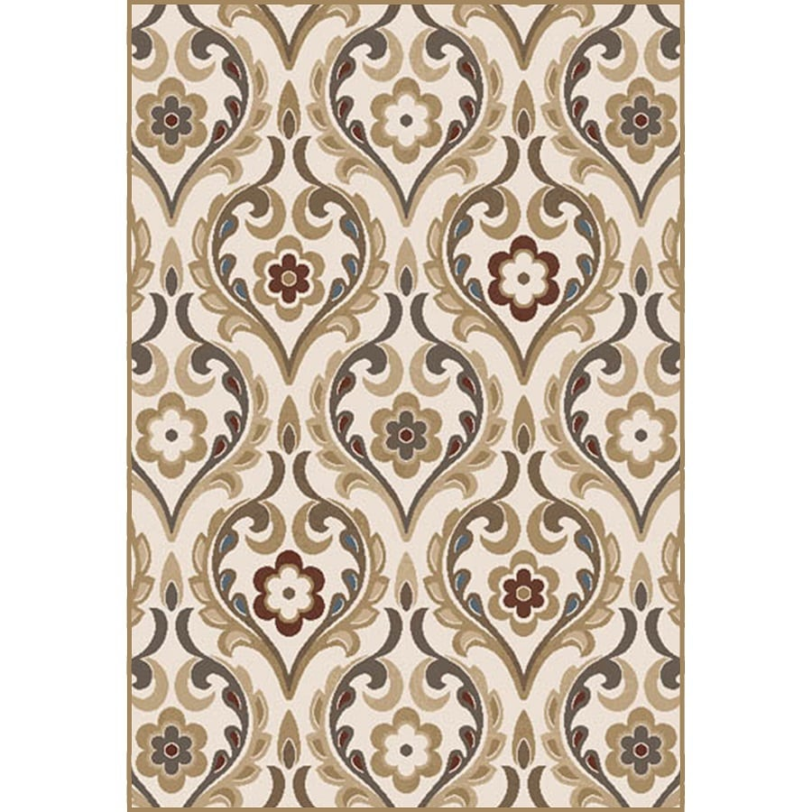Home Dynamix Cape Town Ivory Rectangular Indoor Woven Area Rug (Common: 8 x 10; Actual: 7.67-ft W x 10.33-ft L)