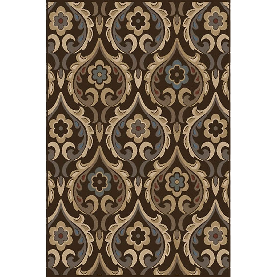 Home Dynamix Cape Town Brown Rectangular Indoor Woven Area Rug (Common: 8 x 10; Actual: 7.67-ft W x 10.33-ft L)