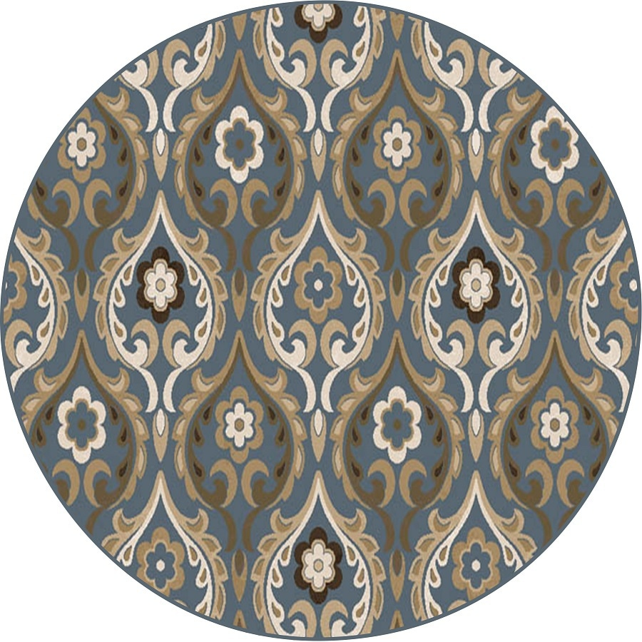 Home Dynamix Cape Town Round Indoor Woven Area Rug (Common: 4 x 4; Actual: 3.28-ft W x 3.28-ft L)