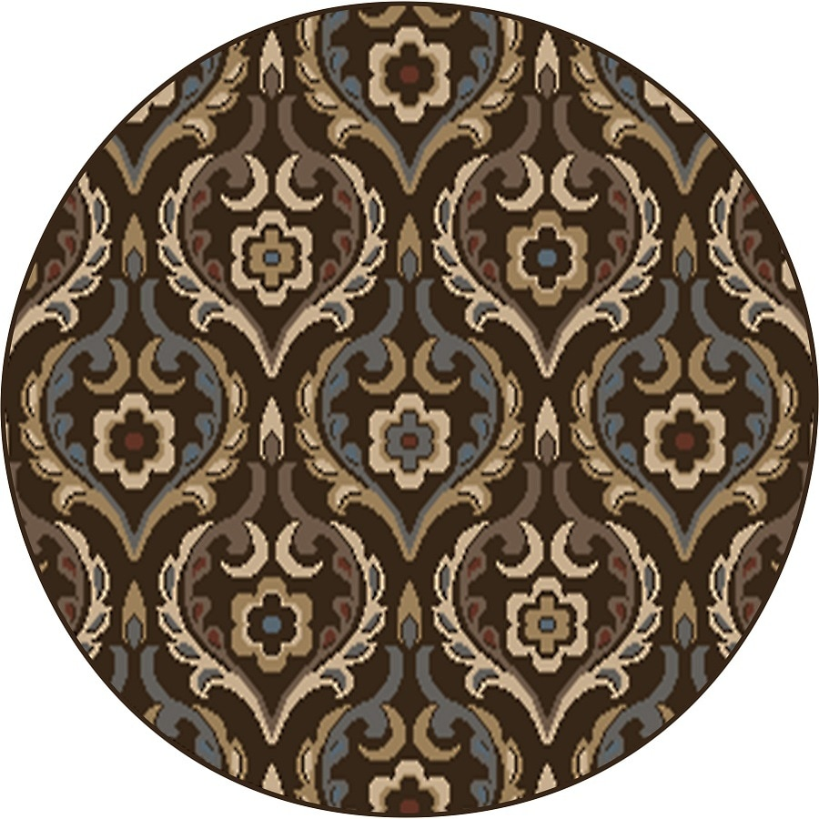 Home Dynamix Cape Town Round Indoor Woven Area Rug (Common: 5 x 5; Actual: 5.17-ft W x 5.17-ft L)