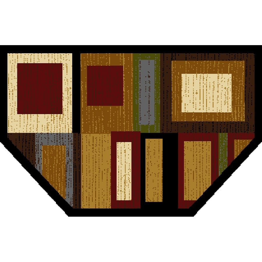 Home Dynamix Montreal Hexagonal Indoor Woven Throw Rug (Common: 2 x 3; Actual: 2.17-ft W x 3.25-ft L)