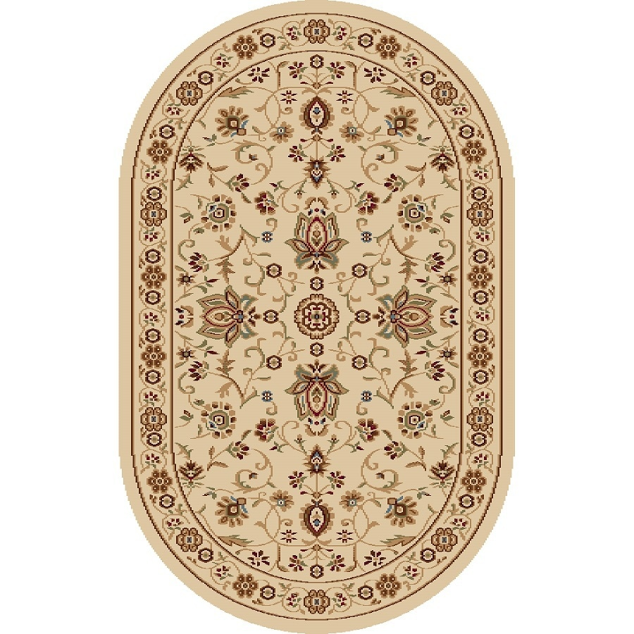 Home Dynamix Rome Oval Indoor Woven Throw Rug (Common: 2 X