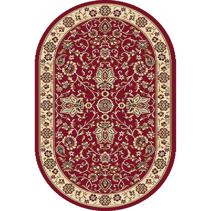 Home Dynamix Rome Oval Indoor Woven Throw Rug (Common: 2 x 4; Actual: 2.58-ft W x 4.17-ft L)