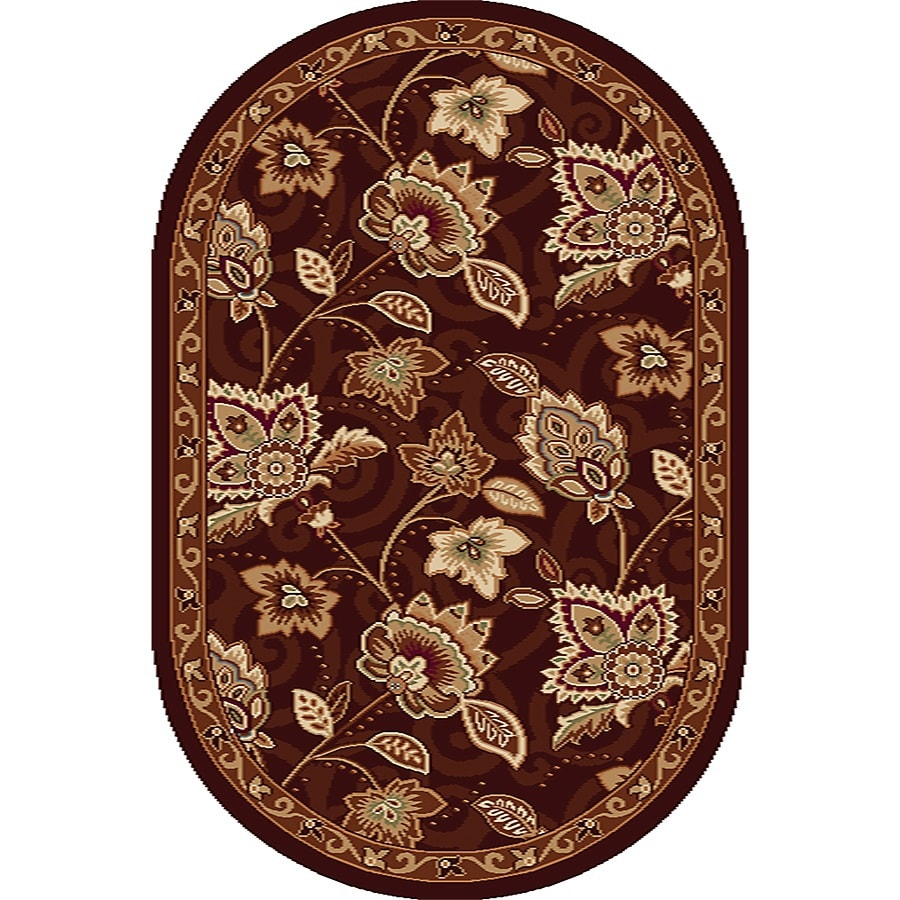 Home Dynamix Lisbon Oval Indoor Woven Throw Rug (Common: 2 x 4; Actual: 2.58-ft W x 4.17-ft L)