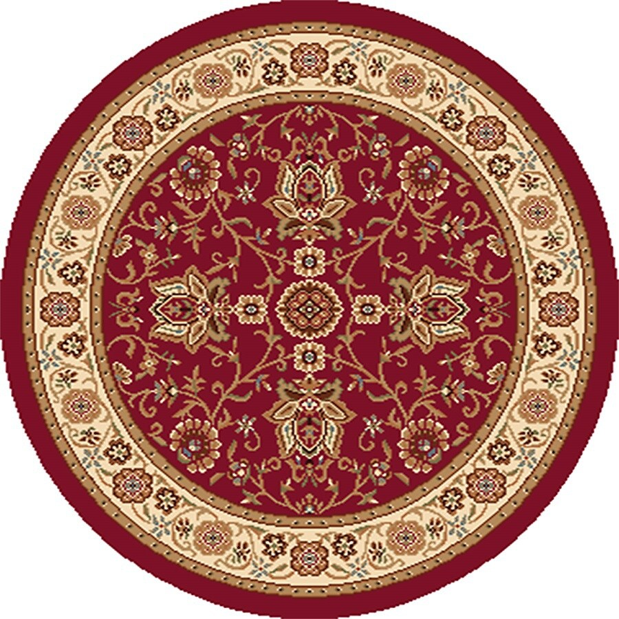 Home Dynamix Rome Round Indoor Woven Area Rug (Common: 4 x 4; Actual: 3.25-ft W x 3.25-ft L)