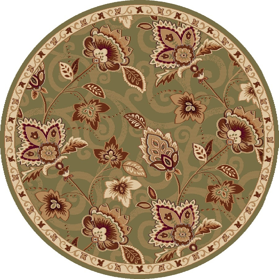 Home Dynamix Lisbon Round Indoor Woven Area Rug (Common: 4 x 4; Actual: 3.25-ft W x 3.25-ft L)