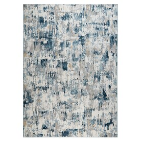 Home Dynamix Premier Blue Lines 8 X 10 Gray Blue Indoor Stripe Area Rug In The Rugs Department At Lowes Com