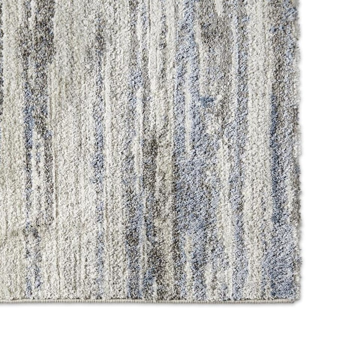 Home Dynamix Premier Blue Lines 5 X 7 Gray Blue Indoor Stripe Area Rug In The Rugs Department At Lowes Com