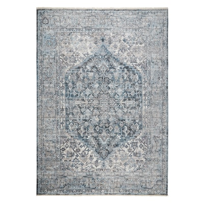 Extra Large Grey Rug Floral Design Classical Bedroom Living Room Rugs Floor Mat