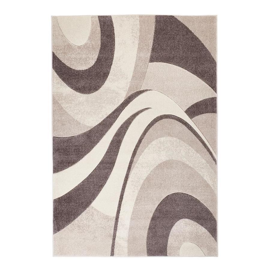 Brown Indoor Abstract Area Rug