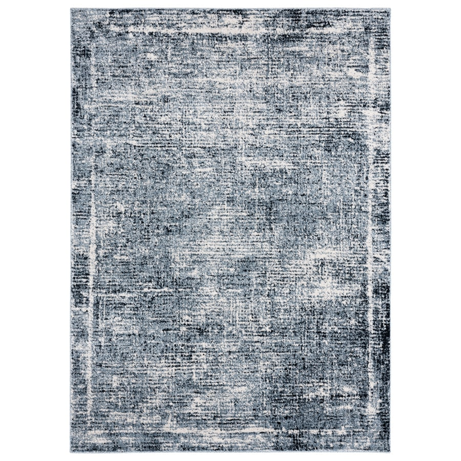 Home Dynamix Premier Border 5 X 8 Blue Indoor Border Area Rug In The Rugs Department At Lowes Com