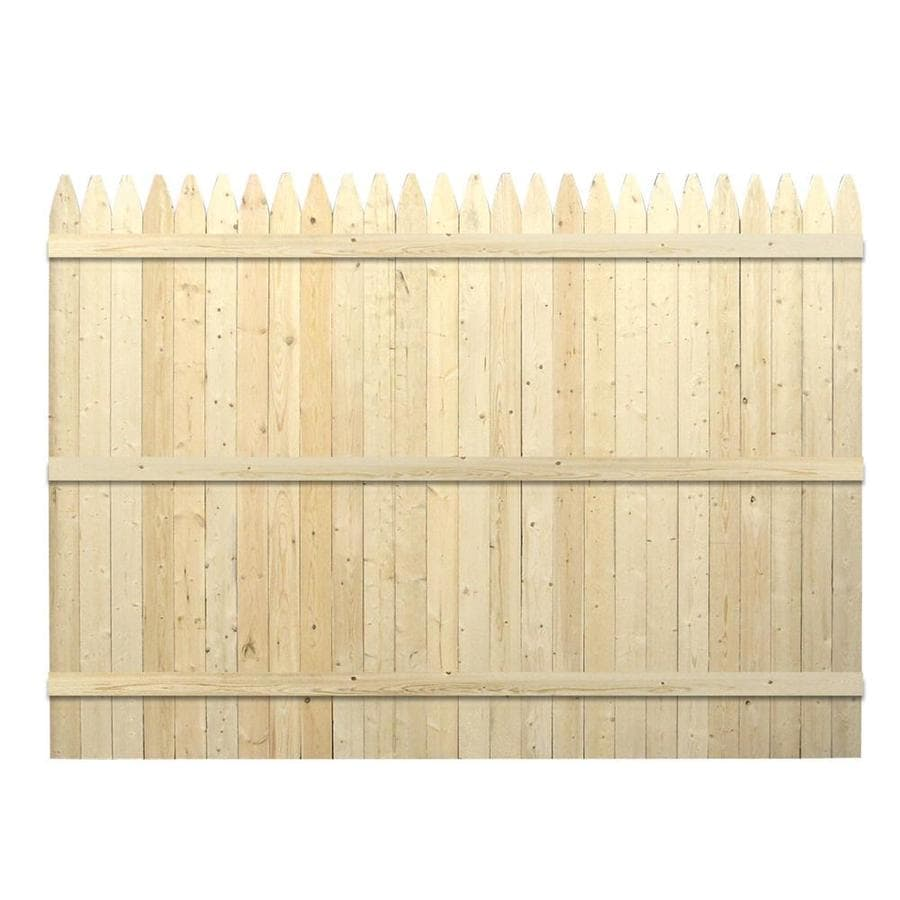 Severe Weather (Actual: 5.91-ft x 8-ft) Spruce Pine Fir Privacy Fence Panel