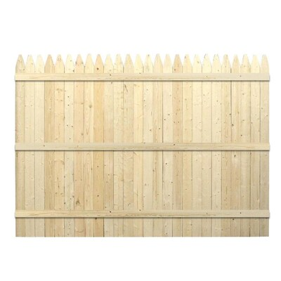 Actual 591 Ft X 8 Ft Barrette Stockade Wood Fence Panel