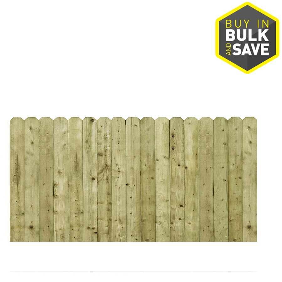 Severe Weather (Actual: 3.5-ft x 8-ft) Pressure Treated Spruce Pine Fir Privacy Fence Panel