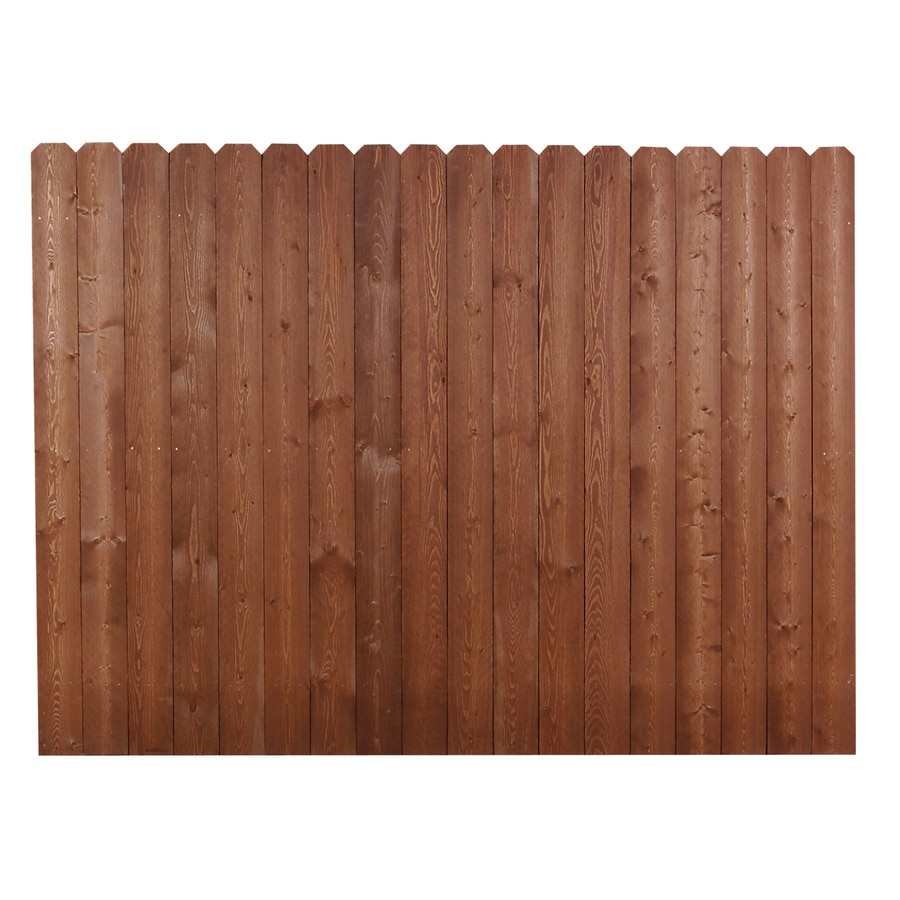 Wood Fencing 6' x 8' Severe Weather Dog Ear Cedartone Fence Panel - Shop Wood Fencing 6' X 8' Severe Weather Dog Ear Cedartone Fence